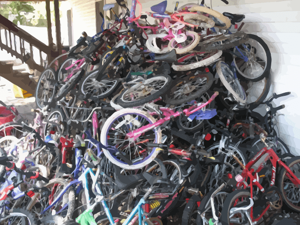 A Pile of Used Bikes