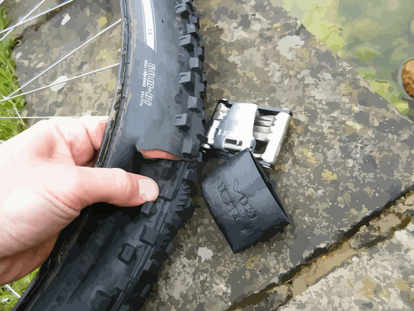 Bicycle Tire Rip and Boot