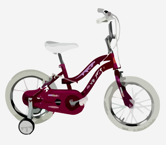 Child's Bike With Training Wheels