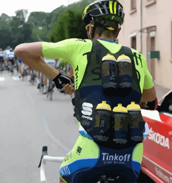 Cyclist with Water Bottle Vest