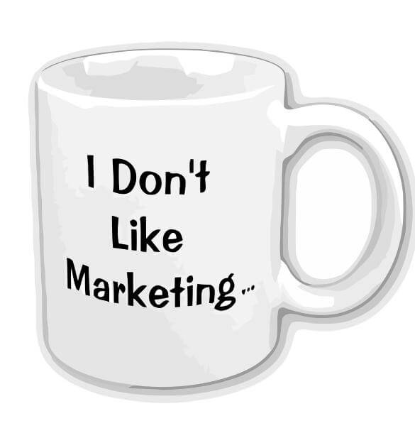 Coffee Cup - I Don't Like Marketing