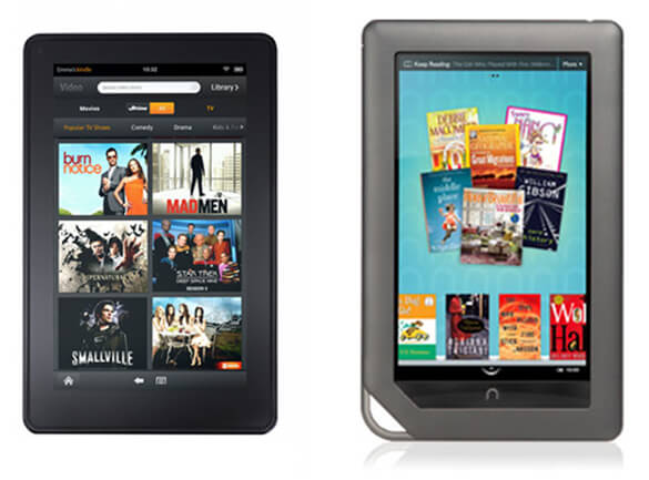 Amazon Kindle Fire vs. Barnes and Noble Nook Color 2
