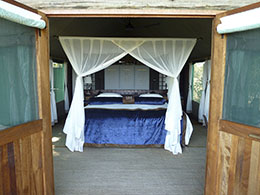 View Inside Tent at Duba Plains