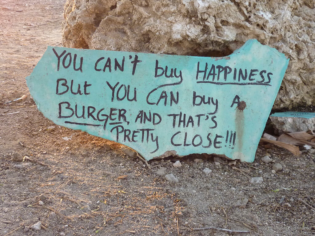 Sign at Cactus Blue Food Truck