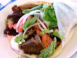Gyros Sandwich from Lefteris in Tarrytown, NY