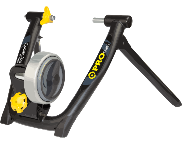 Turbo Trainer with Progressive Magnetic Resistance