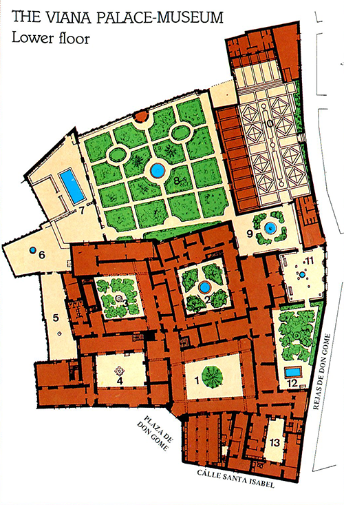Map of the Courtyards of the Viana Palace