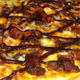 BBQ Pizza at Silver Lake Pizzeria